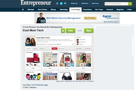 top pinterest boards entrepreneur s top 5 tech pinterest boards to follow