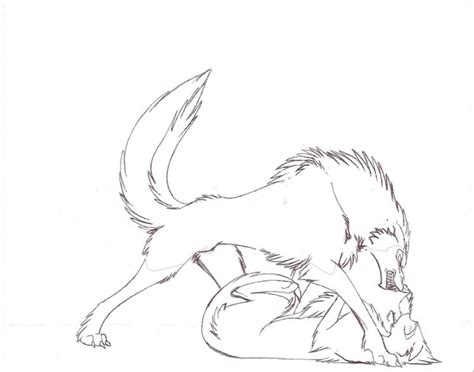 Free Coloring Pages Of Two Anime Wolves In Love Anime Wolf Coloring Pages