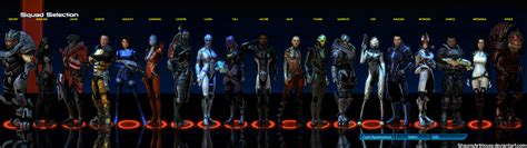 mass effect design team mass effect squad selection complete by shaunsarthouse on
