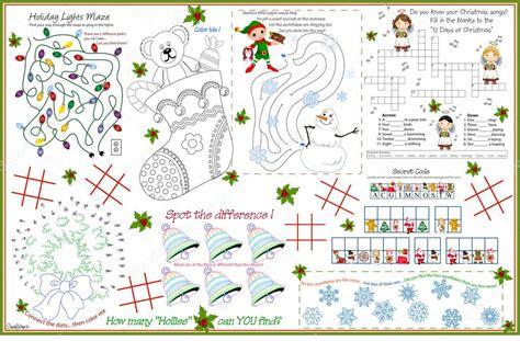 printable christmas placemats placemat christmas printable activity sheet 7 stock