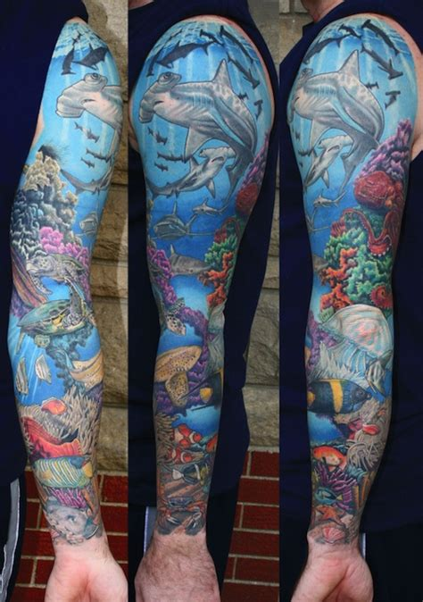 sea sleeve tattoo designs 54 amazing sea creature tattoos ideas
