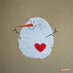 mollymoocrafts diy christmas cards potato printed snowman