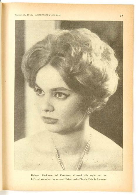 Vintage women's hairstyle from HJ, dating back to the 1950s   hairtstyles 50`s 60`s   Pinterest