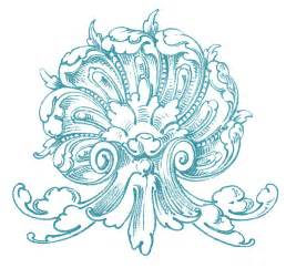 designs for ornaments vintage ornamental clip shell with scrolls the