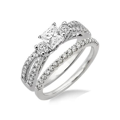 antique style wedding ring set on jewelocean