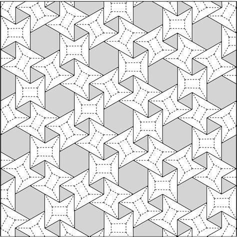 Origami Tessellation Diagrams - 3 6 3 6 waterbomb flagstone tessellation crease pattern