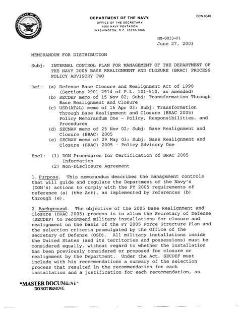 navy iao appointment letter department of the navy memorandum plan