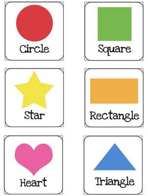 Printable Toddler Learning Flash Cards | shapes flash cards printable for preschoolers printable