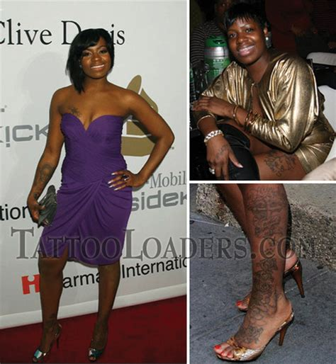 fantasia tattoo tattoos on fantasia barrino leg on rnb singer