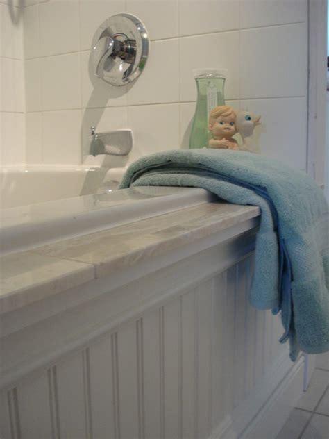beadboard around bathtub beachy cottage style bathroom traditional bathroom toronto by chris kauffman