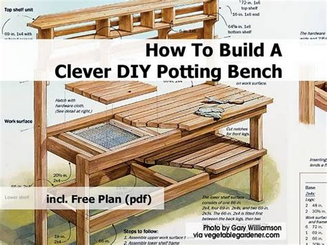 potters bench plans pdf diy how to build a cedar potting bench download how to