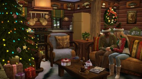 Rustic Cabin Kitchen Ideas christmas log cabin at frau engel 187 sims 4 updates