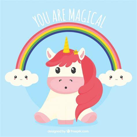 fondo de unicornio feliz brillante descargar vectores gratis fondo de bonito unicornio con arcoiris descargar