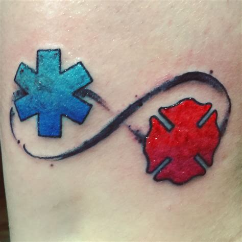 star of life and maltese cross tattoo symbolizing my love