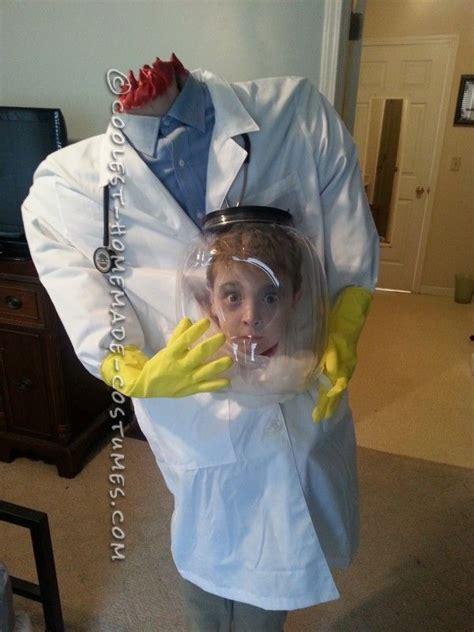 cool illusion costume idea   boy doctor   head