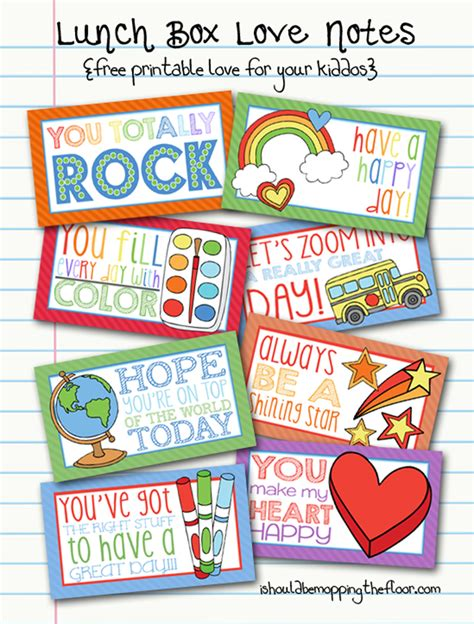 printable lunchbox notes 12 printable lunch box notes my craftily ever after