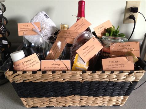 gifts for homeowners housewarming gift basket craft pinterest