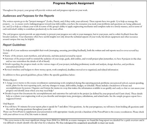 report writing assignment sle fig 1 sle progress report assignment scientific