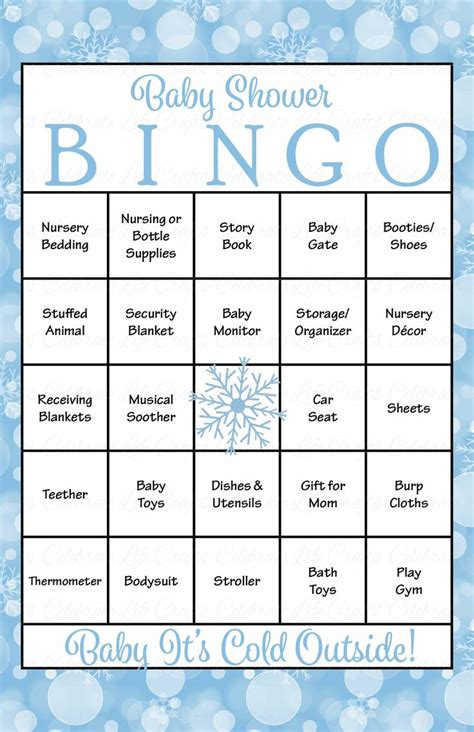 Winter Bingo Card Template by 39 Best Images About Baby Shower Bingo On