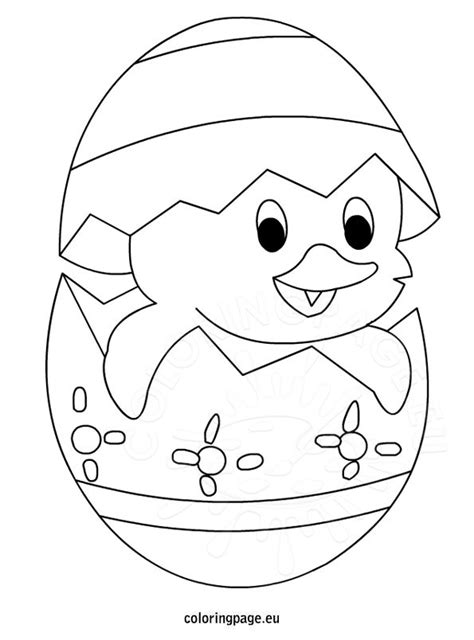 easter cute chick coloring page