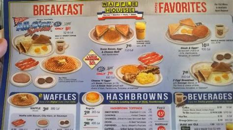 waffle house breakfast menu their breakfast menu picture of waffle house colorado springs tripadvisor