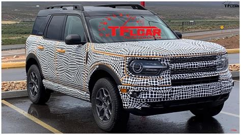 ford bronco sport spotted  testing