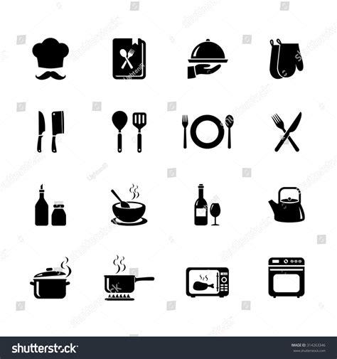 kitchen icon set of cooking icon kitchen icon black icons vector