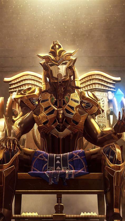 pubg mobile  wallpaper golden pharaoh  suit