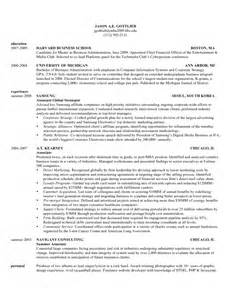 Resume For Graduate Business School Harvard Business School Resume Template Sles Of Resumes