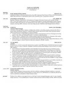 Harvard Business School Resume Template   Samples Of Resumes