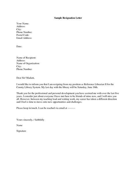 Formal Resignation Letter Email Sle email resignation letter sle 2015 letters kindergarten resignation letter