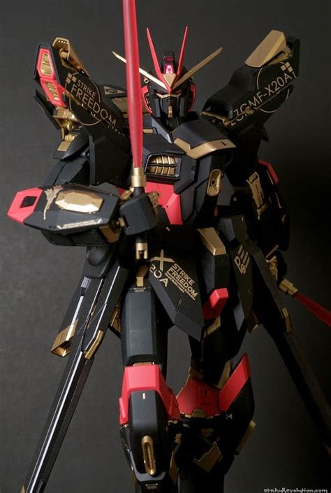 Gundam Wings Black Silver custom build pg 1 60 strike freedom gundam quot black color scheme quot gundam kits collection news