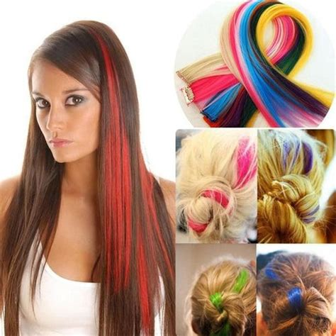 colored hair extension extensiones de cabello de colores