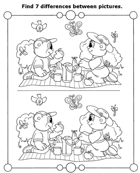 1 picture puzzles for a find the differences book activity books for ages 4 8 volume 1 books picture 8 to print or for free