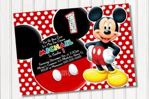 Mickey Mouse Birthday Invitations Template mickey mouse invitations template best template