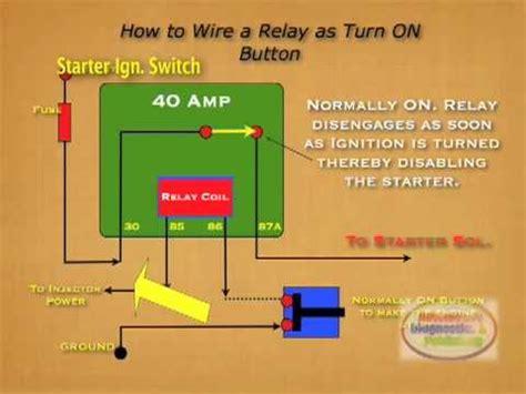 wire relay starter kill switch youtube