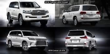 benim otomobilim 2016 lexus lx 570 vs 2016 toyota land