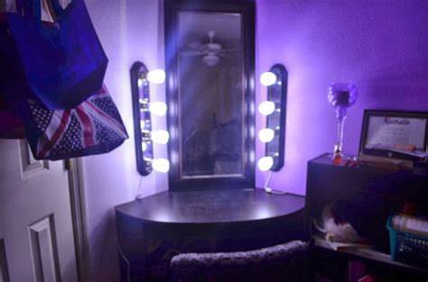 small makeup vanity with lights corner makeup vanity with wall lighting for small space
