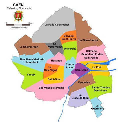 Fichier Quartiers De Caen Png Wikip 233 Dia