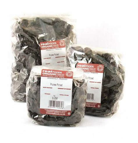 Dried Prune 500gr organic pitted prunes from real foods buy bulk wholesale