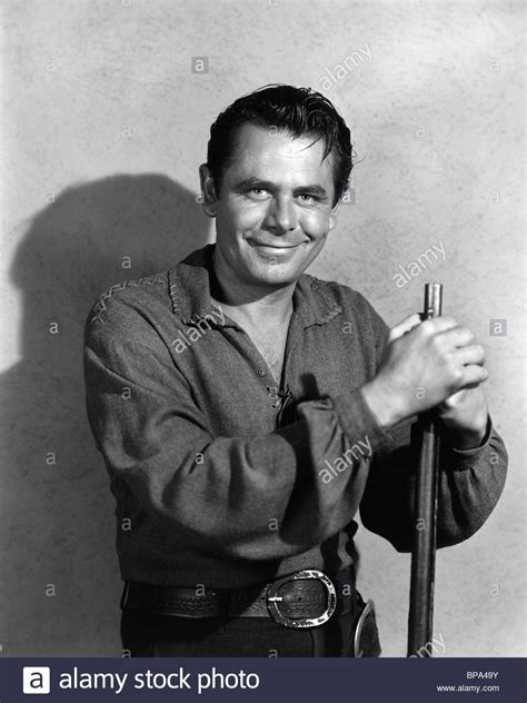 glenn ford glenn ford the from the alamo 1953 stock photo