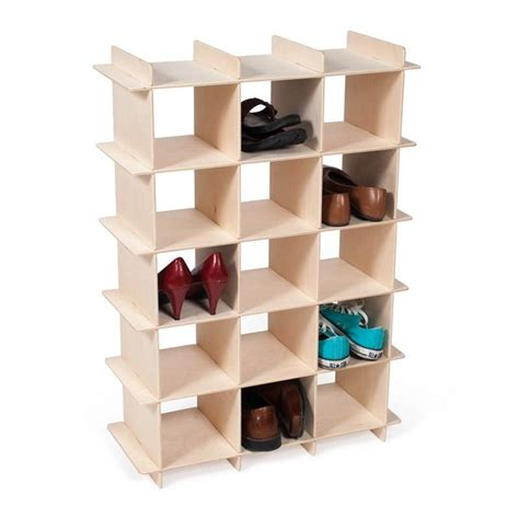 shoe storage cubbie modern wood shoe storage cubby sprout