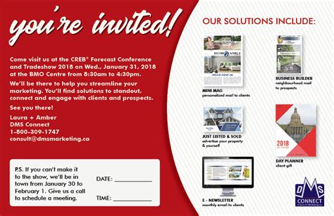 Attention Calgary Real Estate Agents Dms Marketing Trade Show Invitation Email Template