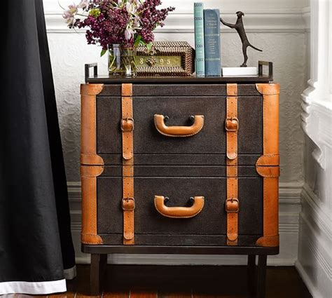 pottery barn ken fulk ken fulk luggage bedside table pottery barn