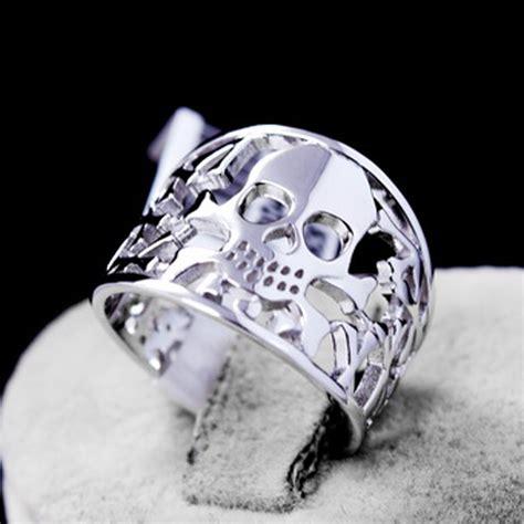 genuine 925 sterling silver anillos joyas de plata skull