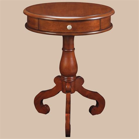 Pedestal Accent Table Pedestal Accent Table Black Pedestal Side Table Pedestal End Table With Drawer
