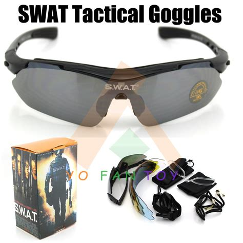 Swat Goggles tactical swat goggles eyewear sunglasses uv400 protection 5 lens sport goggles ebay