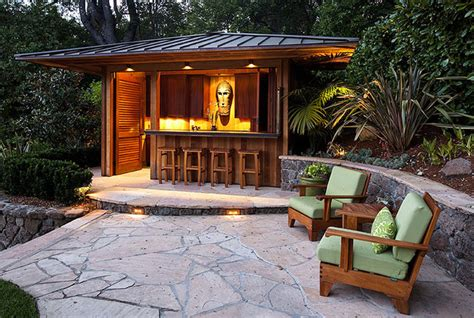 Man Cave Backyard Outdoor Bar