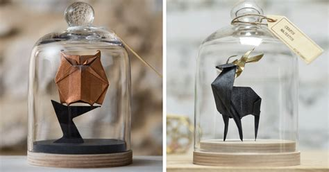 Jar Of Origami - artist found an amazing way to preserve origami by using