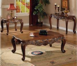 Living Room Coffee Table Sets 3 Pc Traditional Coffee End Table Set Living Room Ebay